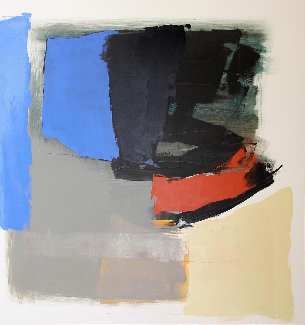 Foto: Werk von Arnaldo Ricciardi, Titel: Libera scelta, Material: Acrylfarbe auf Leinwand, 170cm mal 160cm